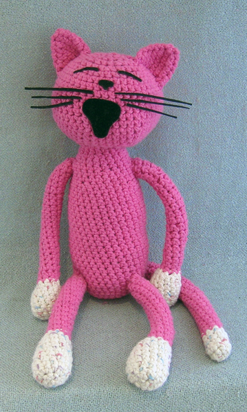 pink big mouth cat