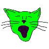 big mouth cat