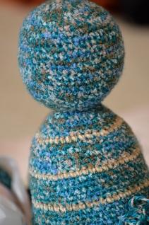 teal beige yarn wip 3