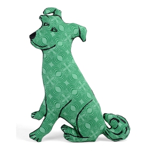 green op art pup