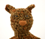 head squirrel brown orange crochet