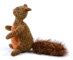 side squirrel brown orange crochet
