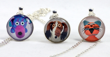 three critter creation necklaces