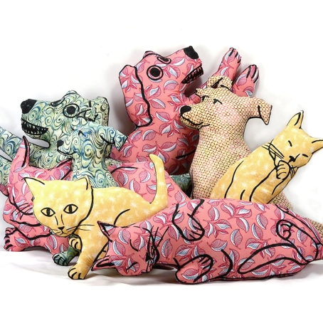 pile big pillows