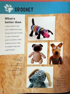 kids book dog portraits crochet page
