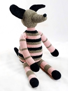 grey-pink-crochet-dog