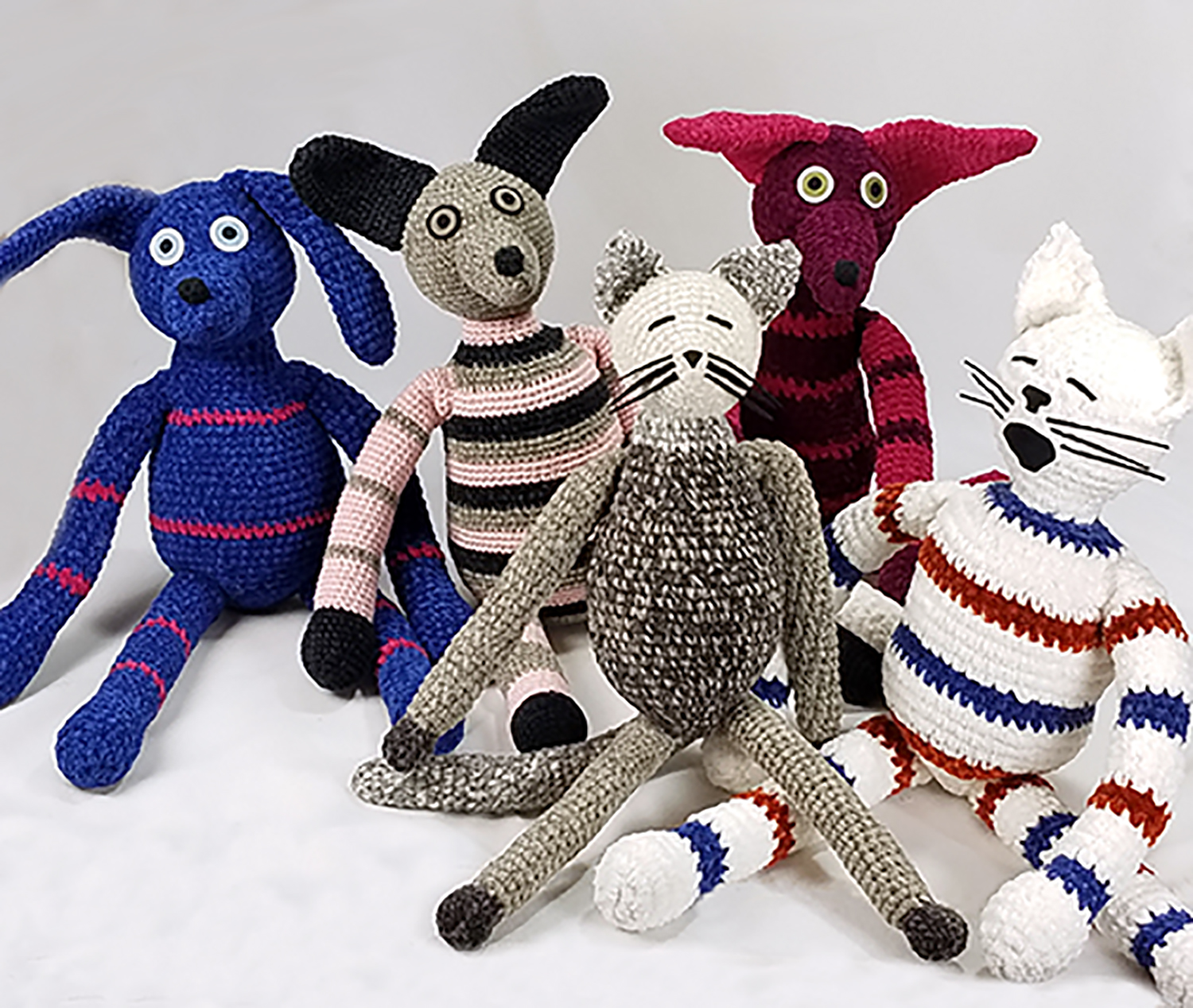 crocheted critters library show